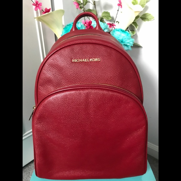 334a5c381d55 Michael Kors Bags | Red Cherry Abbey Backpack Large | Poshmark